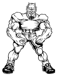 Football Devils Mascot Decal / Sticker 05