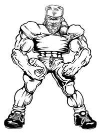 Football Frontiersman Mascot Decal / Sticker 5