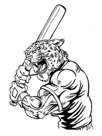 Baseball Leopards Mascot Decal / Sticker 5