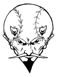 Baseball Devils Mascot Decal / Sticker