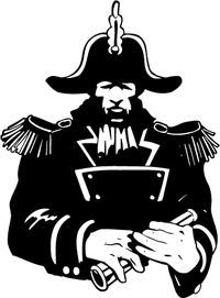 Admiral Mascot Decal / Sticker
