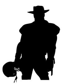 Football Cowboys Mascot Decal / Sticker Body 01