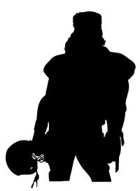 Football Frontiersman Mascot Decal / Sticker 1