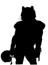 Football Tigers Mascot Decal / Sticker 1