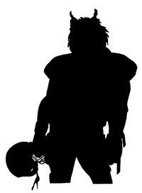 Football Wolves Mascot Decal / Sticker 1