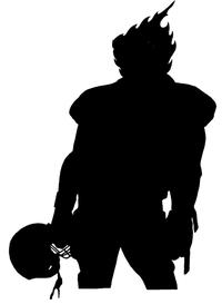 Football Comets Mascot Decal / Sticker 01