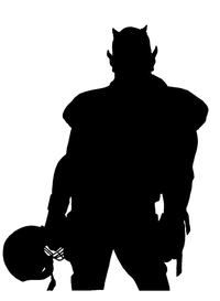 Football Devils Mascot Decal / Sticker 01