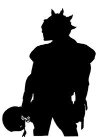 Football Knights Mascot Decal / Sticker 1