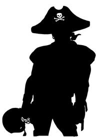 Football Pirates Mascot Decal / Sticker 1