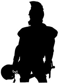 Football Paladins / Warriors Mascot Decal / Sticker 1