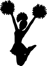 Cheerleader Decal / Sticker 01