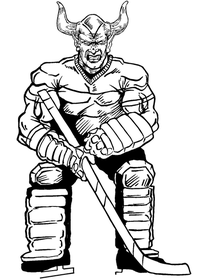 Hockey Devils Mascot Decal / Sticker 2