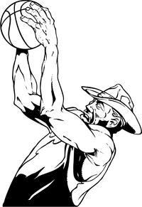 Basketball Cowboys Mascot Decal / Sticker