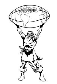 Titans Football Mascot Decal / Sticker