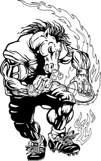 Football Horse Mascot Decal / Sticker