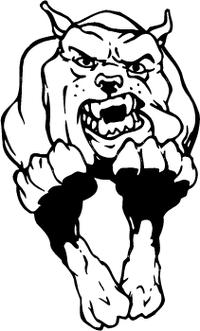 Running Bulldog Mascot Decal / Sticker