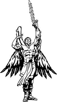 Angels Mascot Decal / Sticker
