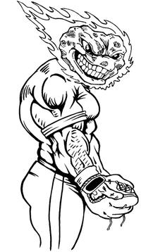 Baseball Comets Mascot Decal / Sticker 02
