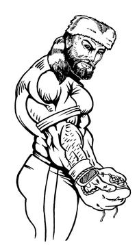 Baseball Frontiersman Mascot Decal / Sticker 2