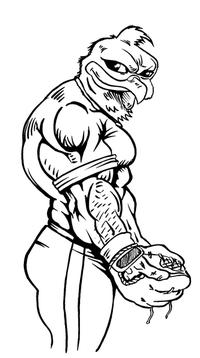 Baseball Gamecocks Mascot Decal / Sticker 2