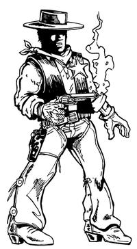 Cowboys Mascot Decal / Sticker Body 4