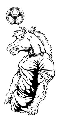 Soccer Horse Mascot Decal / Sticker 3