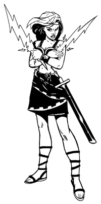 Female Titans Mascot Decal / Sticker