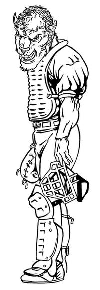 Baseball Buffalo Mascot Decal / Sticker ba1