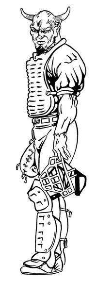 Baseball Devils Mascot Decal / Sticker 1