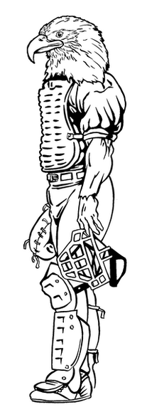 Baseball Eagles Mascot Decal / Sticker 1