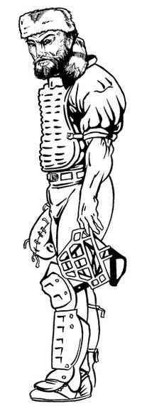 Baseball Frontiersman Mascot Decal / Sticker 1