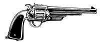 Cowboys Revolver Mascot Decal / Sticker Body 6