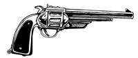Cowboys Revolver Mascot Decal / Sticker Body 6