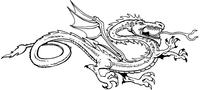 Dragon Mascot Decal / Sticker