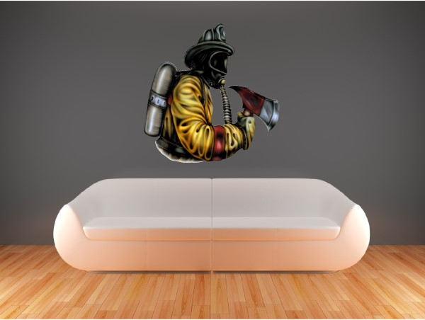 ... Firefighter Wall Decals and Stickers