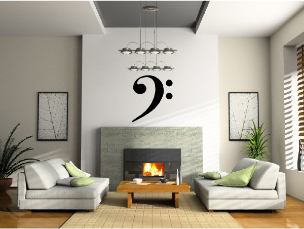Musical note wall decals and stickers