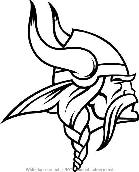 viking mascot decal    sticker 01