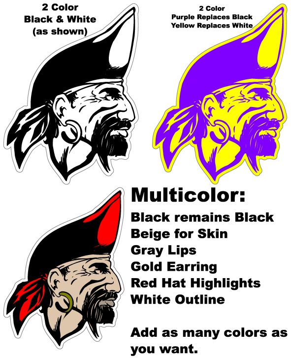 Mascot Color Options