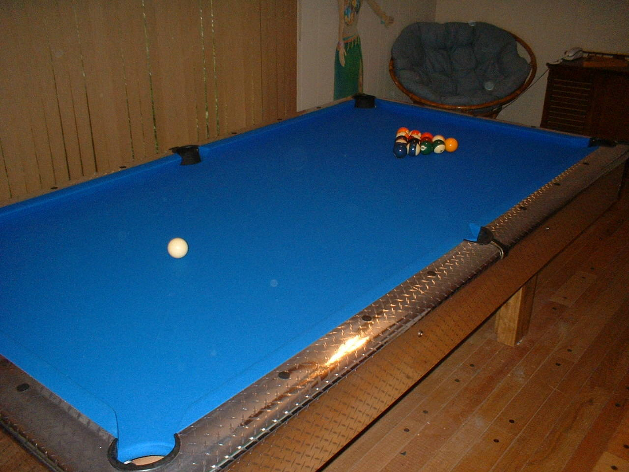 ... Decals And Stickers Diamond Plate Pool Table