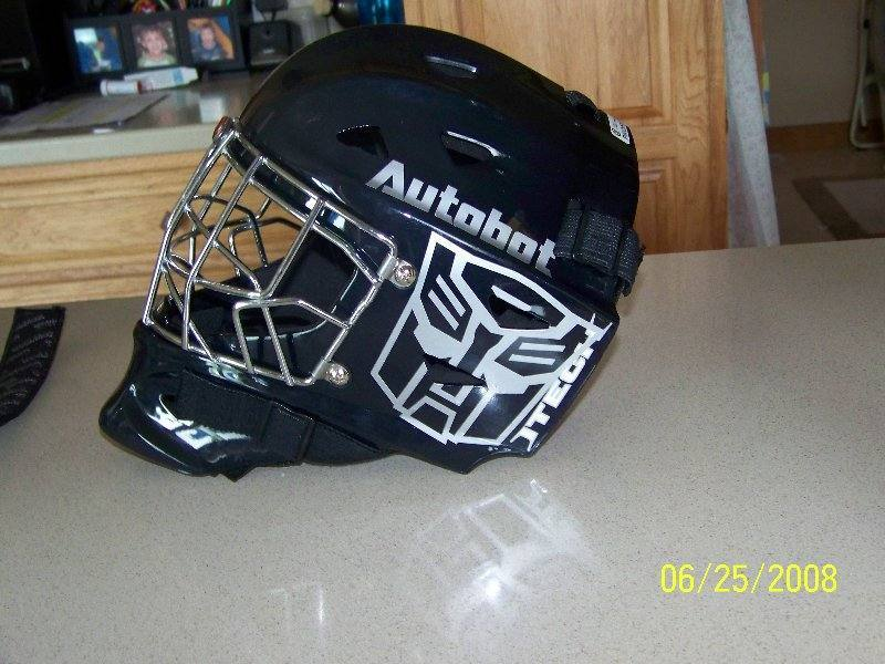 CUSTOM HOCKEY HELMET DECALS And HOCKEY HELMET STICKERS - Helmet custom vinyl stickers