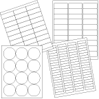 Image of Laser Label Sheets, Blank