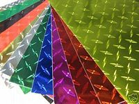 Colored Diamond Plate Decal Vinyl