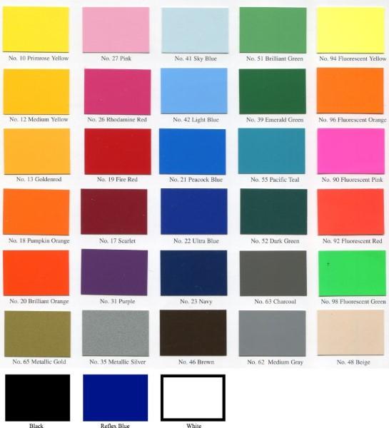 Spot color chart