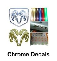 Custom chrome stickers