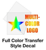 Full color transfer stickers