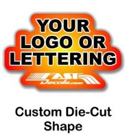 Custom shaped decal quote