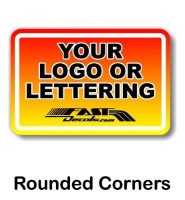Rounded corner custom decal quote