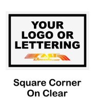 Square clear background decal quote
