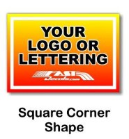 Square Custom Decal Quote