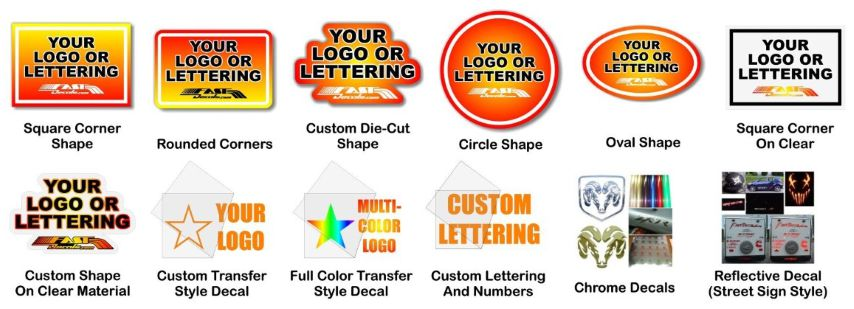 Get an instant custom decal sticker quote